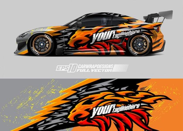 Diseños de envolturas de autos de carreras