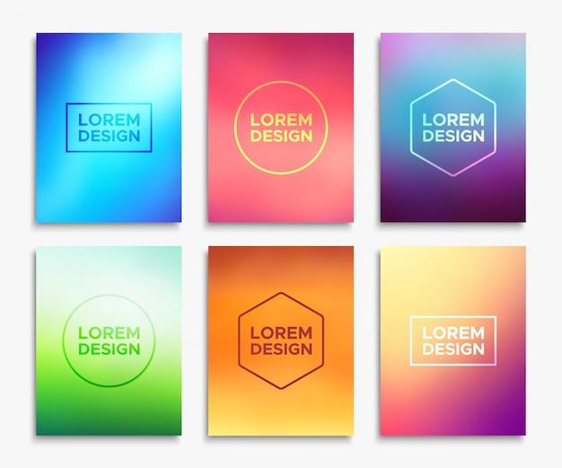Diseños de folleto de folleto en tamaño a4. banners de vector