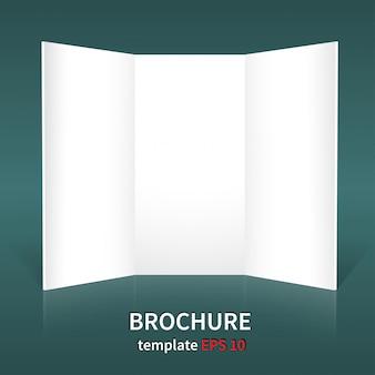 Diseños de folletos sobre un fondo verde