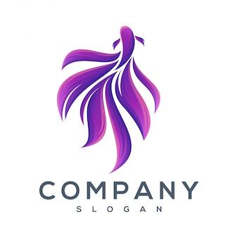 Diseños de logos de peces bailarines.