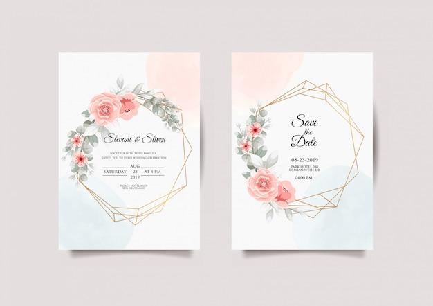 Diseños de plantillas de invitación de boda