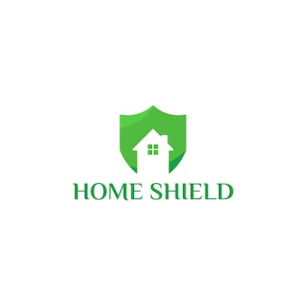 Diseños de plantillas de logotipo de home shield