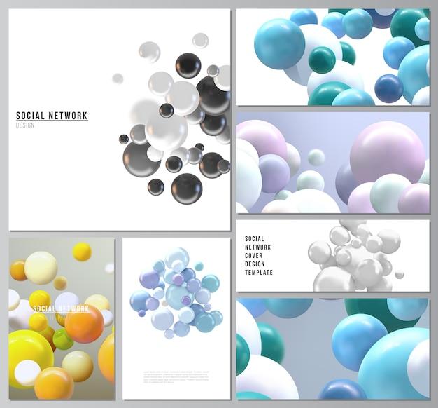 Diseños de redes sociales modernas