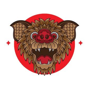Diseños de tatuajes flash de cara de murciélago