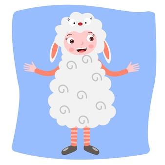Disfraz de oveja para niños