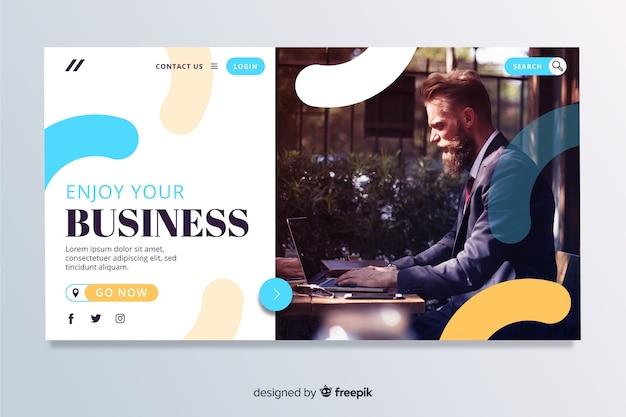 Disfruta de la página de inicio de tu negocio con foto