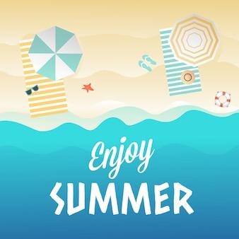 Disfrutar de fondo de verano