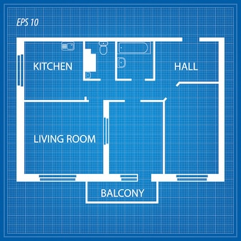 Disposición del apartamento.