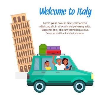 Disposición del cartel de la historieta de la agencia de viajes con el texto.