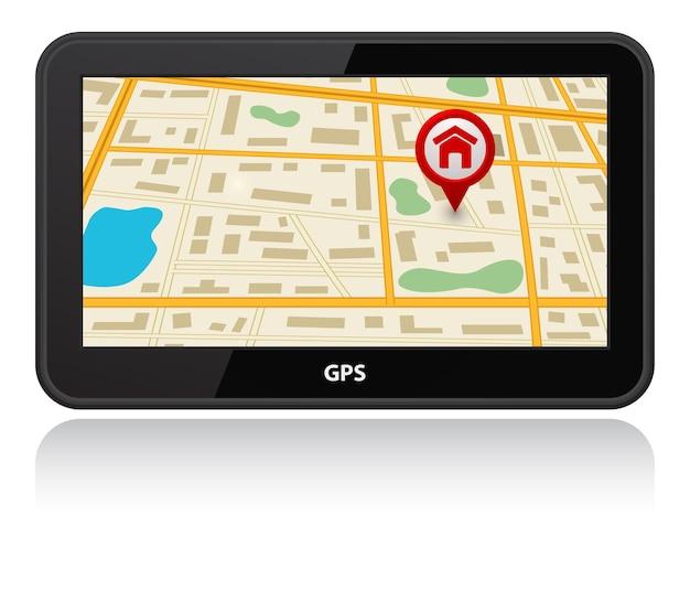 Dispositivo gps con puntero de mapa de pines