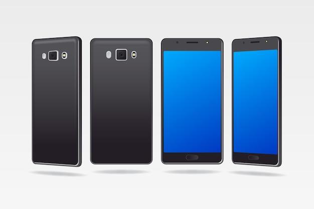 Dispositivo móvil en diferentes vistas