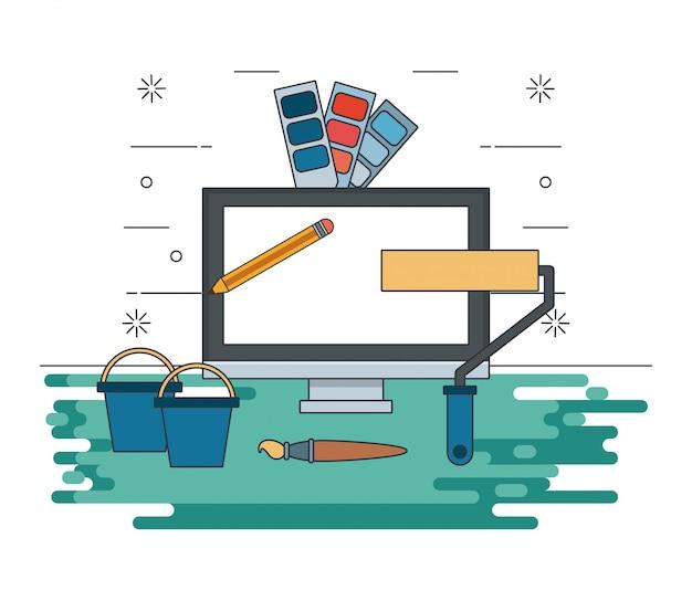 Dispositivo de tecnología de mantenimiento de soporte de dibujos animados