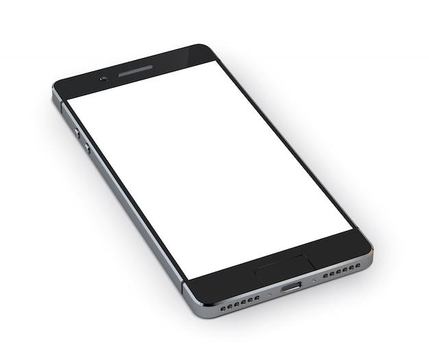 Dispositivo de teléfono inteligente 3d realista