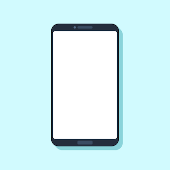 Dispositivo de teléfono móvil plano.