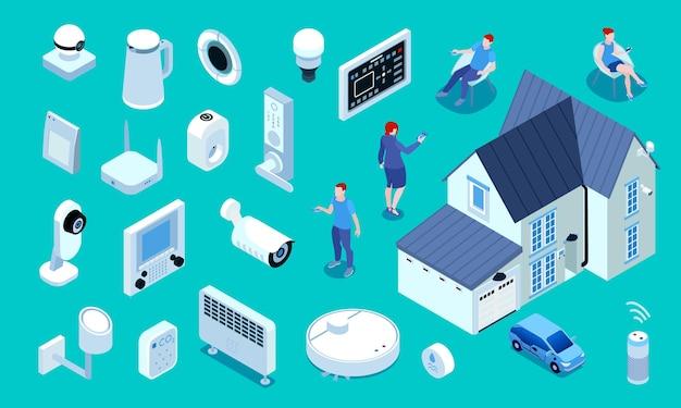 Dispositivos de electrodomésticos de propietarios de edificios de viviendas inteligentes