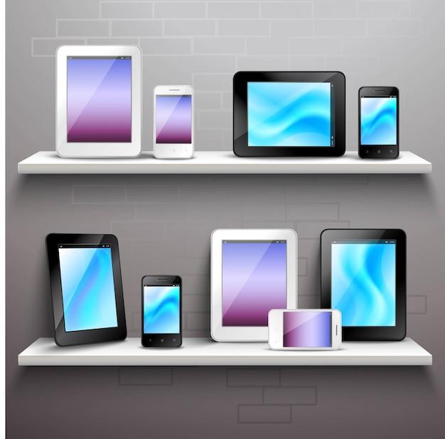 Dispositivos en los estantes
