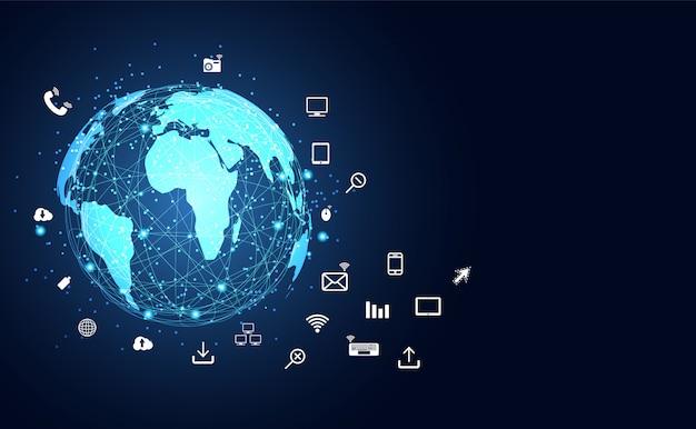 Dispositivos de internet de las cosas y conectividad.