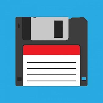 Disquete disquete vintage dispositivo de copia de seguridad negro icono de vector obsoleto