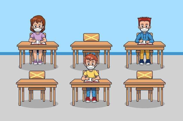 Distanciamiento social en las escuelas