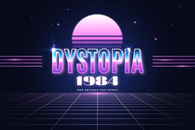 Distopía 1984 efecto de texto
