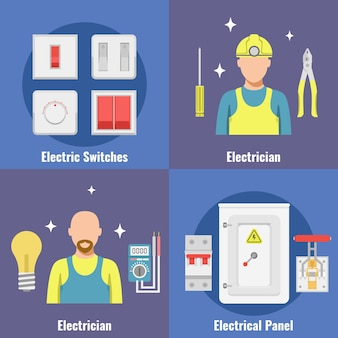 Disyuntores configurados interruptor, fusible, caja eléctrica, disyuntores, cuadro eléctrico