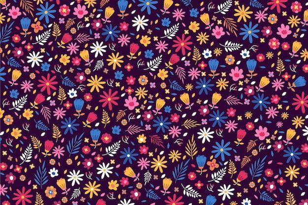 Ditsy papel pintado de flores de colores