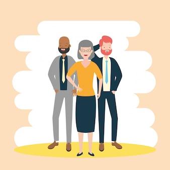 Diversidad hombre y mujer de negocios