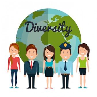 Diversidad de personas diseño