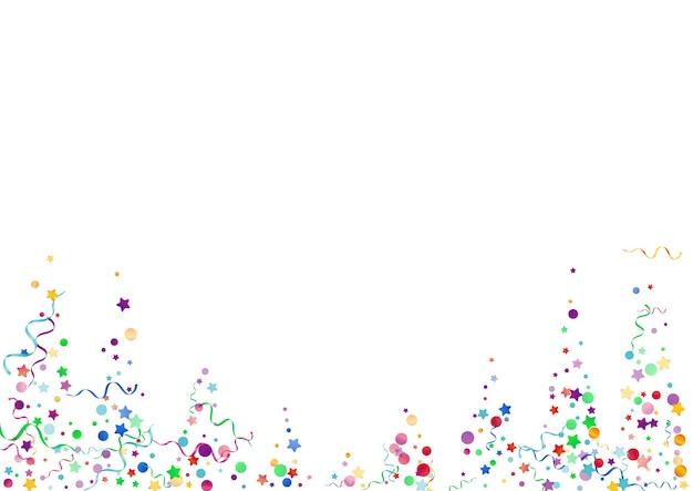 Diversión estrella multicolor sobre fondo blanco