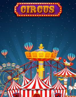 Una divertida plantilla de circo.