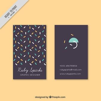 Divertida tarjeta corporativa con líneas de colores