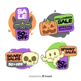 Divertidas criaturas de halloween en venta colección de insignias