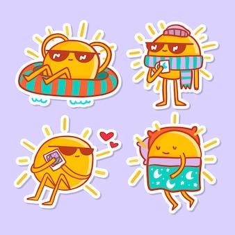 Divertido dibujo con colección de stickers