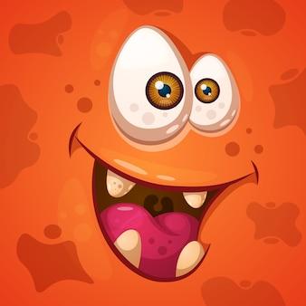 Divertido, lindo personaje monstruo loco.