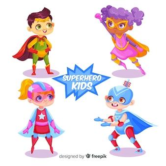 Divertido paquete de superhéroes niños