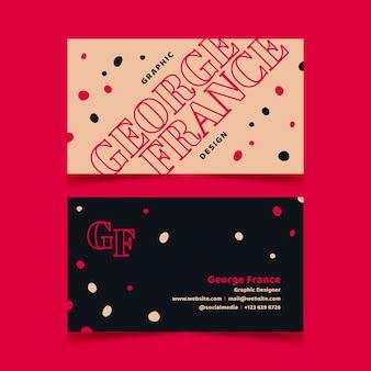 Divertido paquete de plantillas de tarjetas de visita de diseñador gráfico