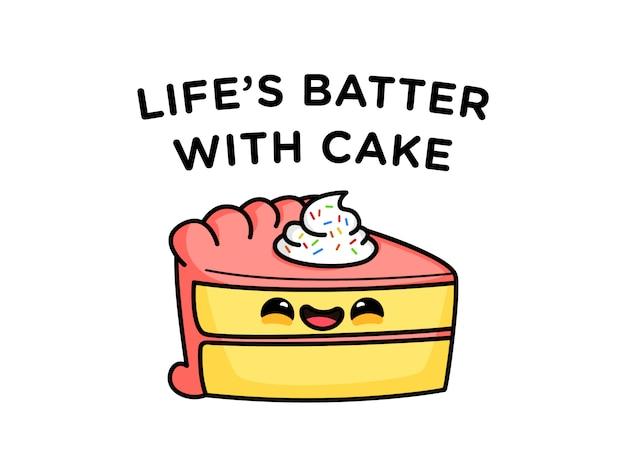 Divertido pastel de pastel de masa