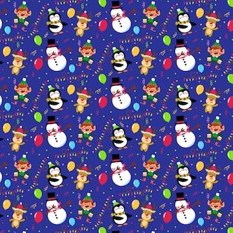 Divertido patrón de navidad