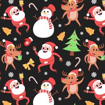 Divertido patrón navideño con renos