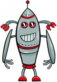 Divertido personaje de dibujos animados de fantasía de robot