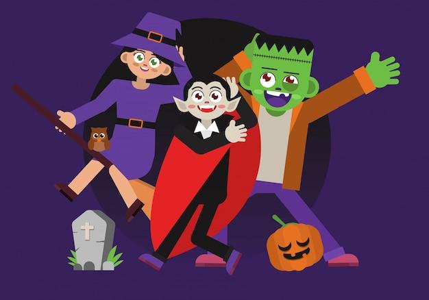 Divertido personaje de disfraces de halloween