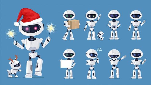 Divertido robot conjunto de iconos
