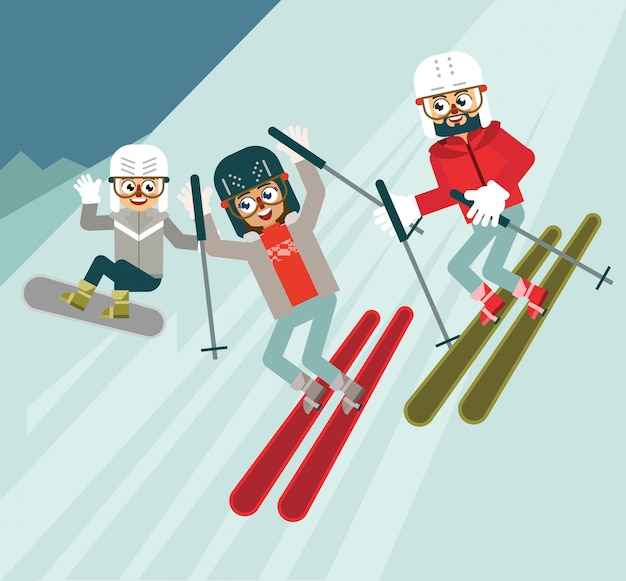 Divertidos deportes de invierno