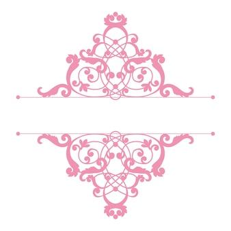 Divisor o marco en estilo retro caligráfico