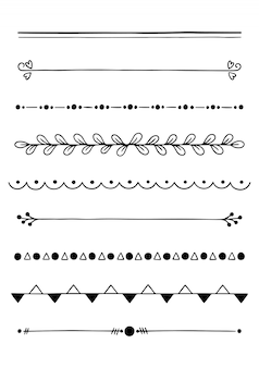 Divisores dibujados a mano
