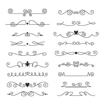 Divisores y marcos para decoración de documentos