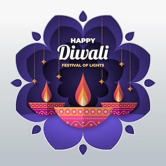 Diwali en concepto de estilo de papel
