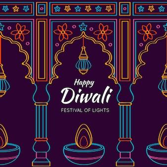 Diwali dibujado a mano