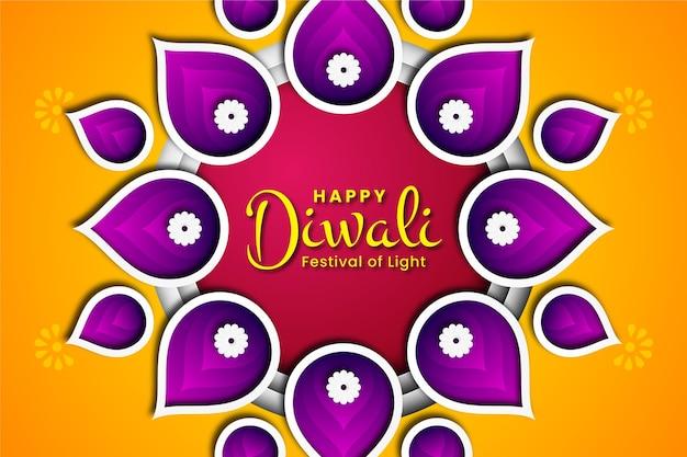 Diwali en estilo papel