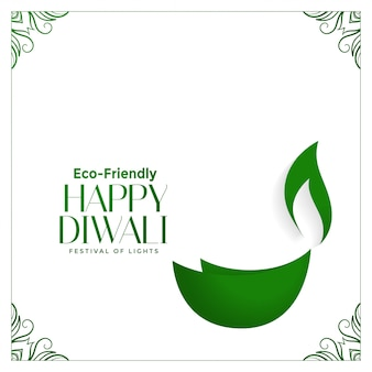 Diwali verde ecológico creativo con diya